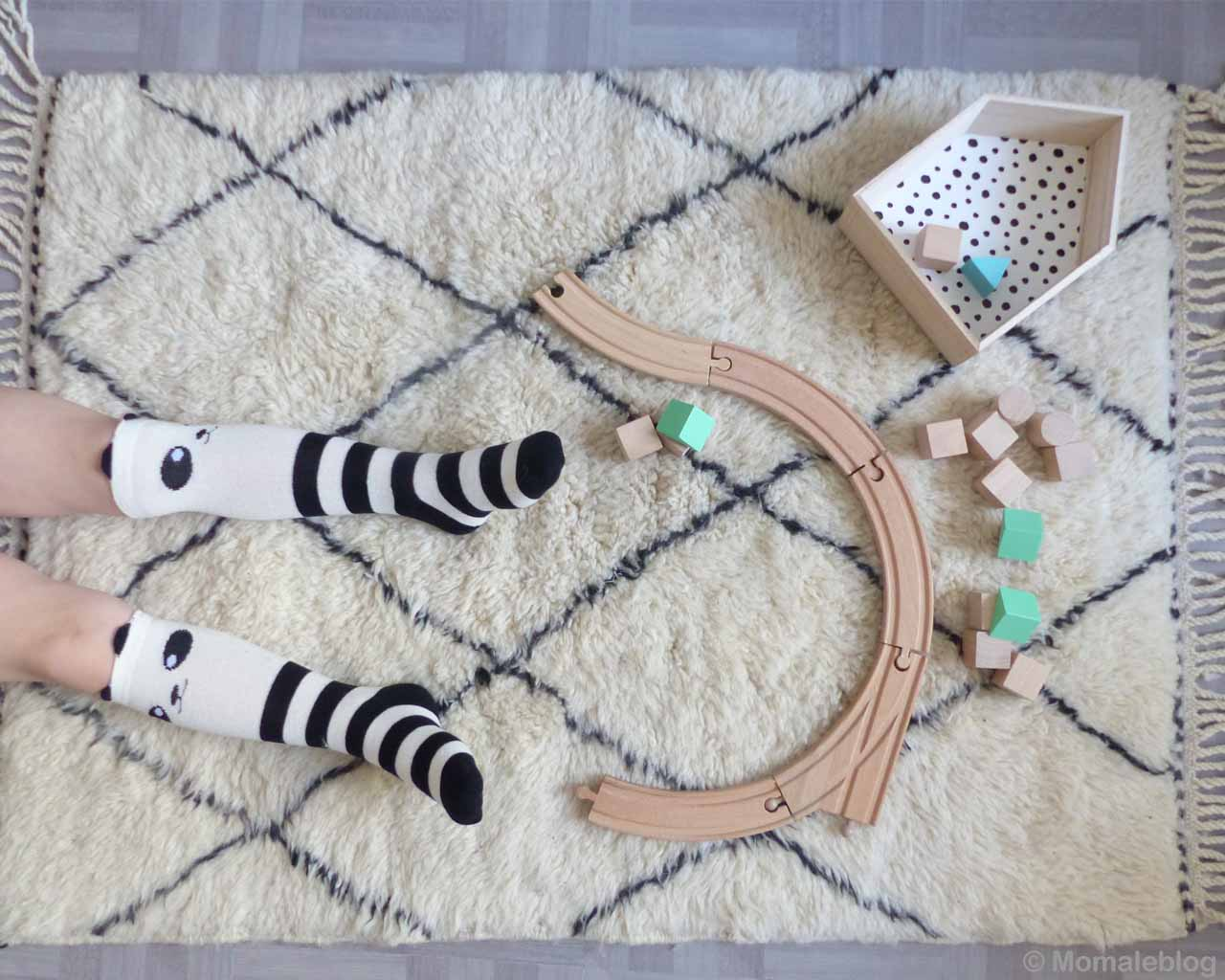hand knotted kids legs with striped socks moroccan made designer rugs
