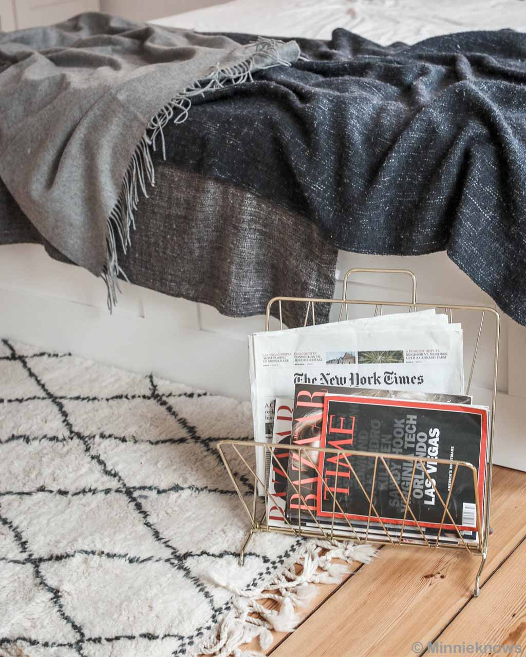 steel rack for books moroccan made danish design beni ourain with black pattern capel rugs