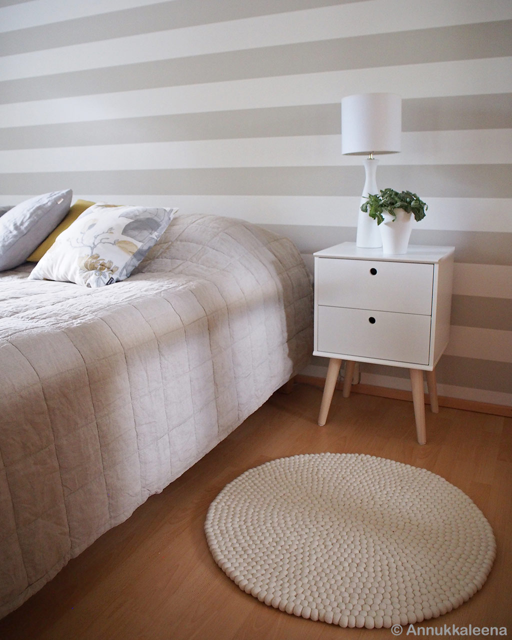 striped wall paper and bed made in nepal contemporary room rugs