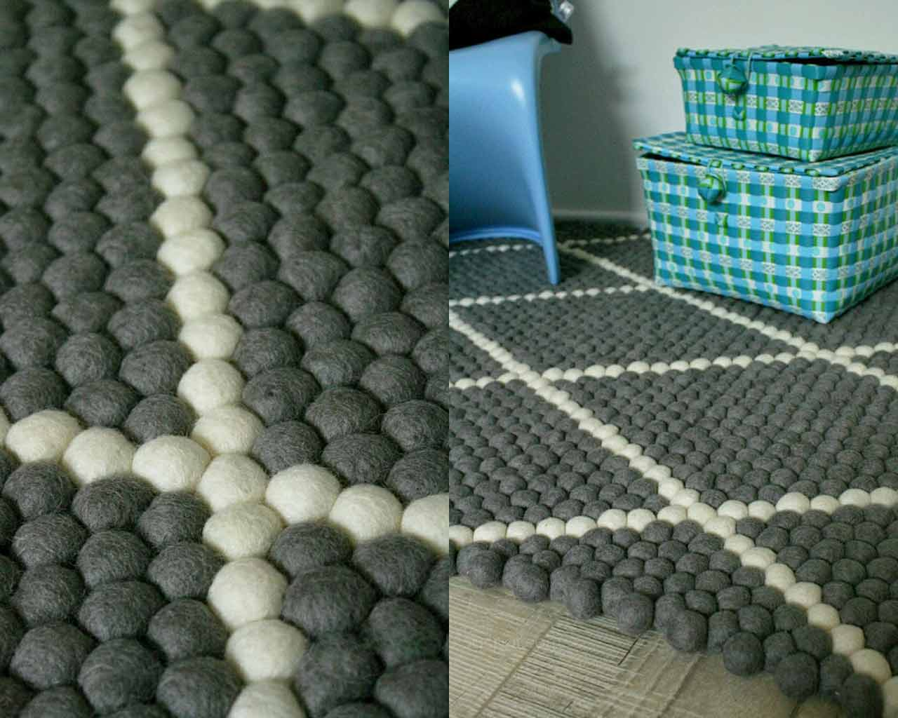 dark grey pattern white lines carpet