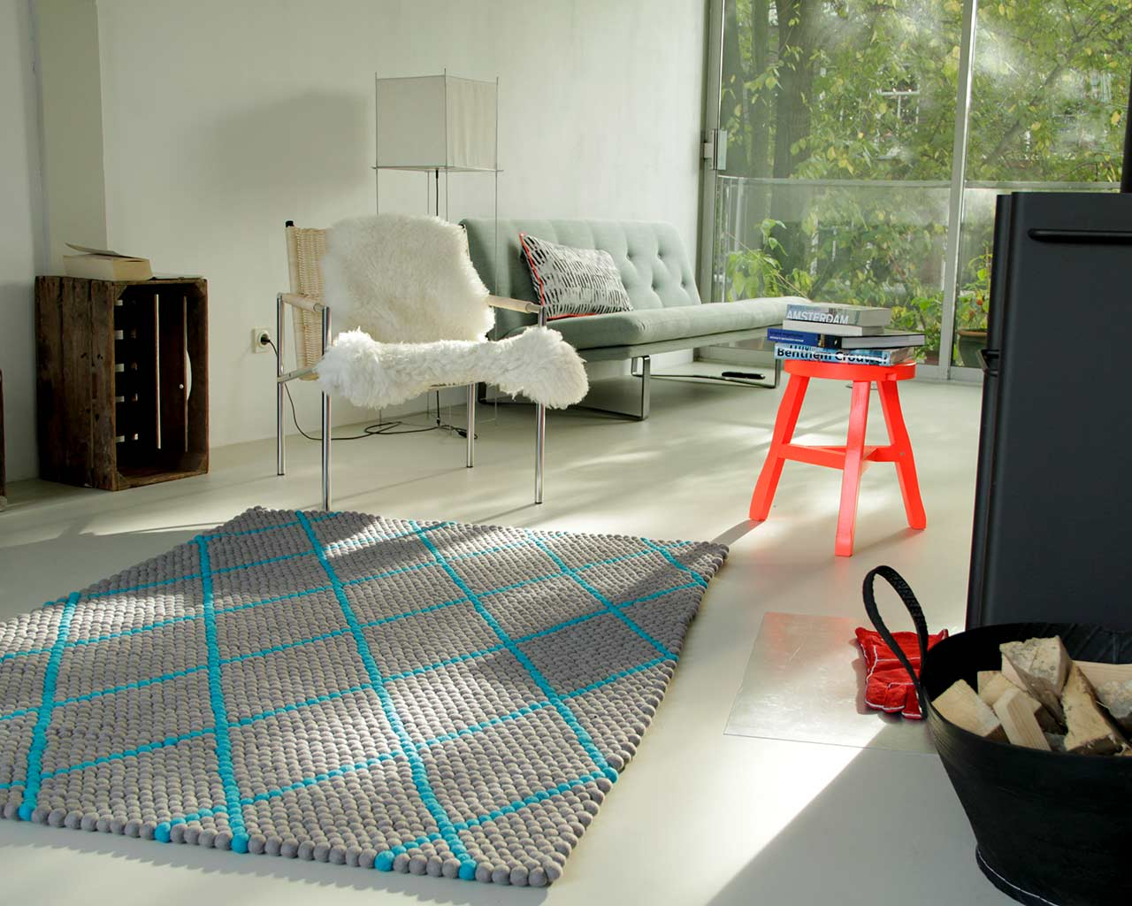 modern fresh colours rug