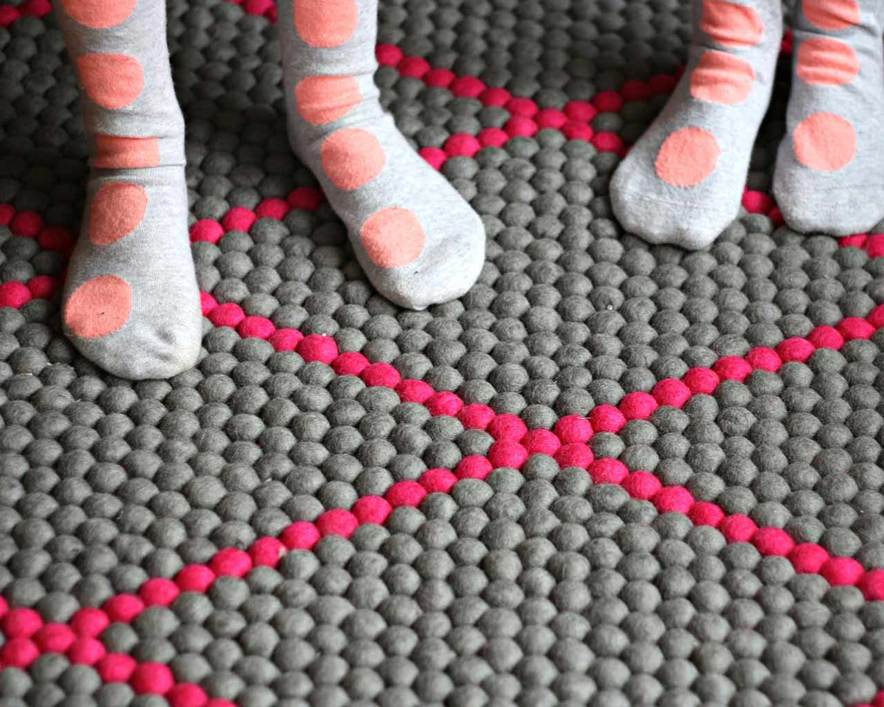 socks matching wool carpet custom made lines
