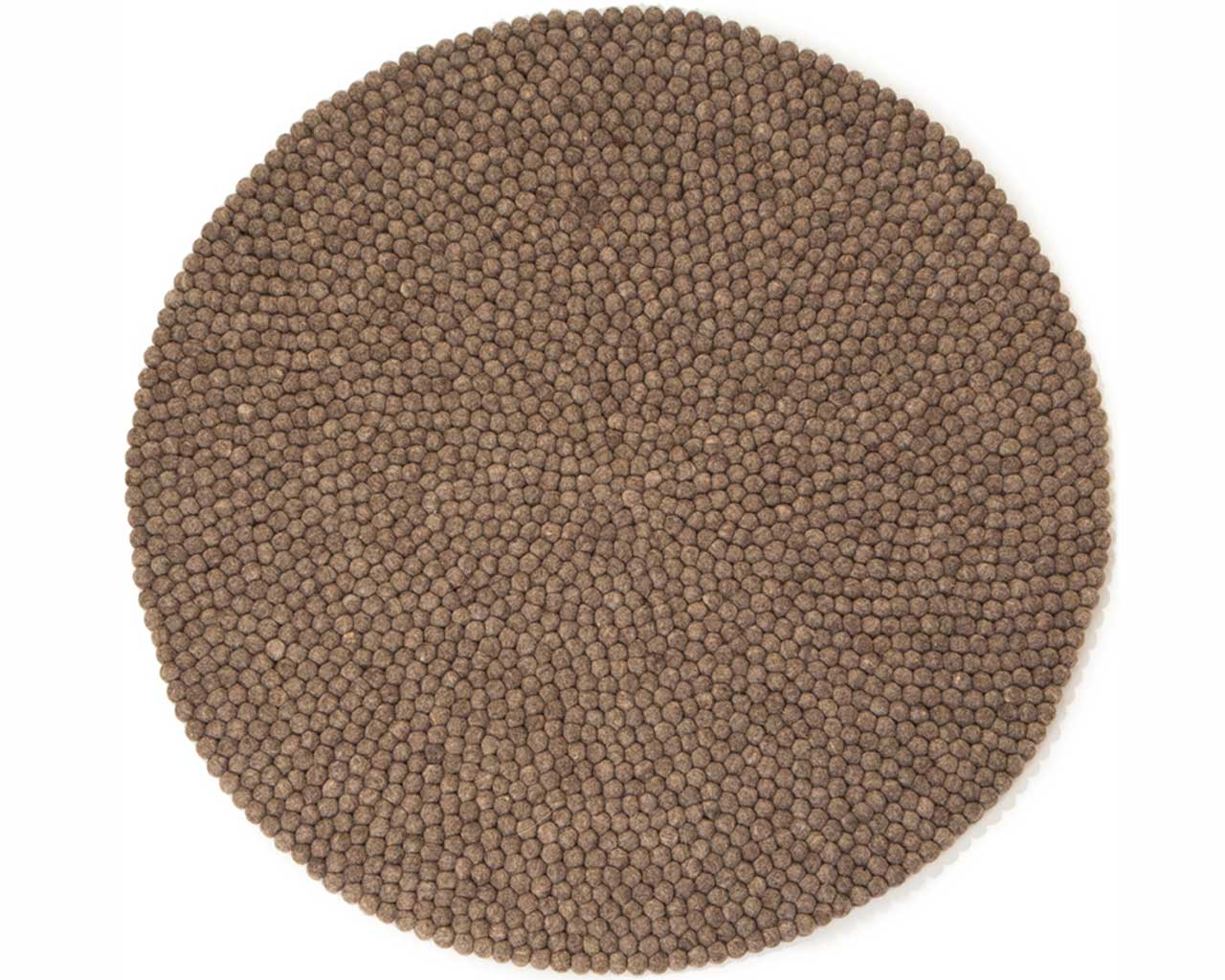 raw earth felt ball rug