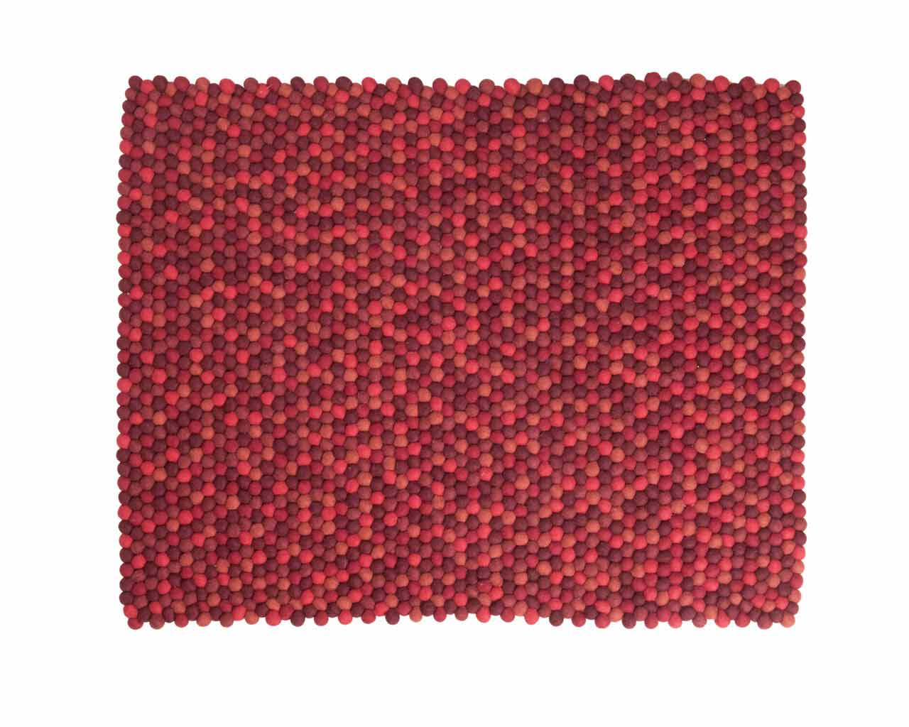custom size carpet red wool