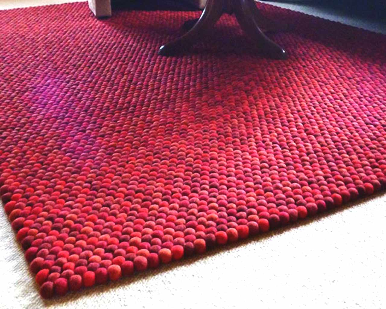 rectangle red danish design carpet felt