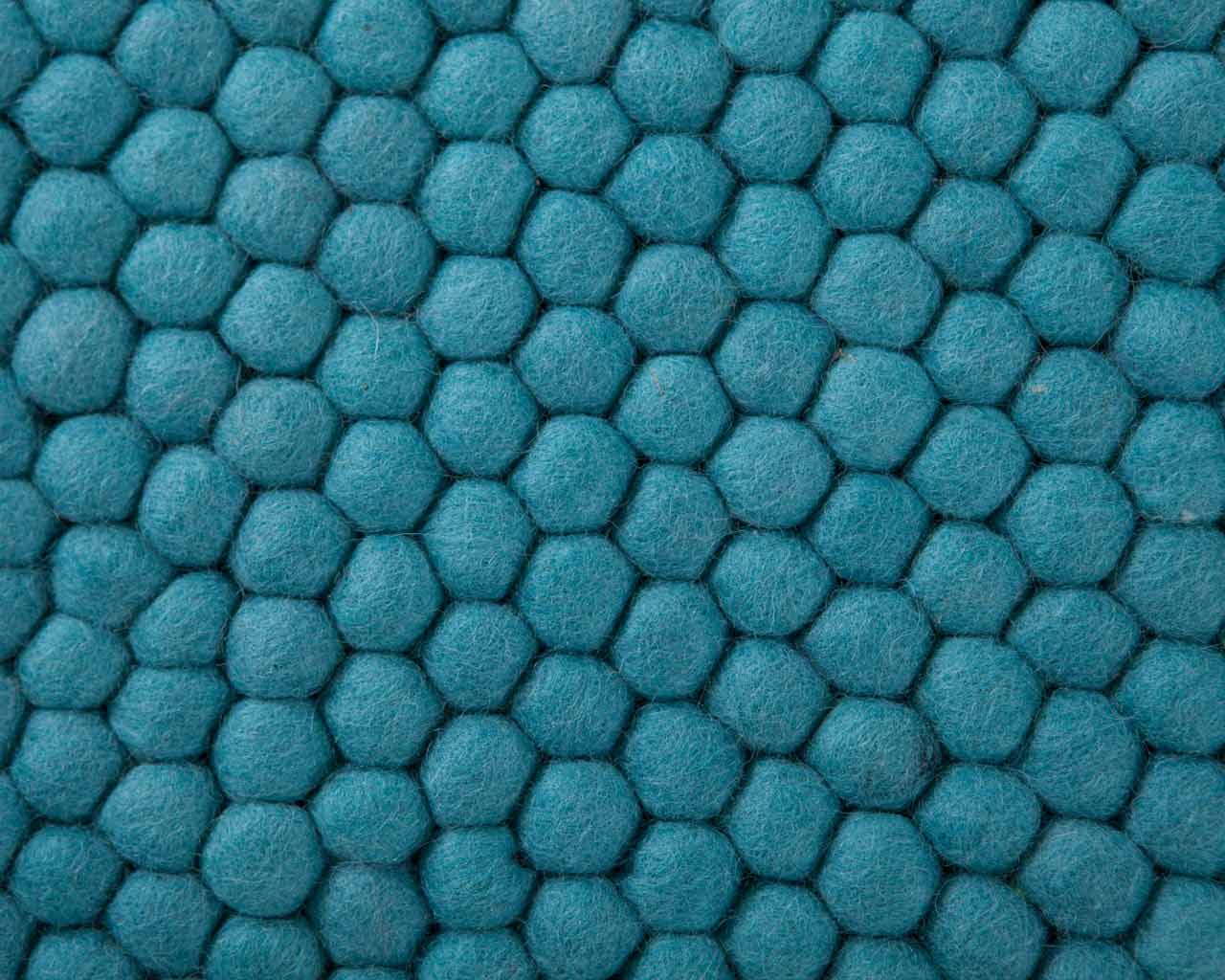 felt carpet design blue