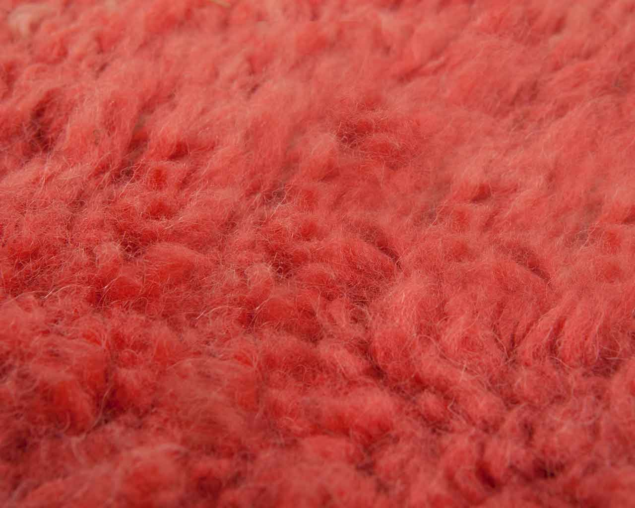 pink wool carpet rectangular soft 1