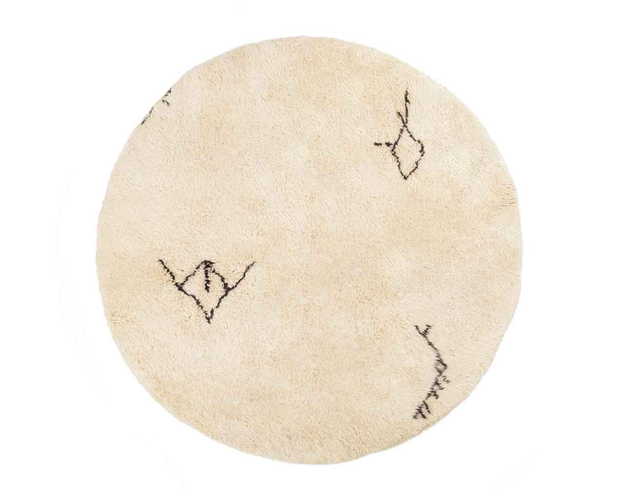 round berber rugs wool original symbols danishdesign 1