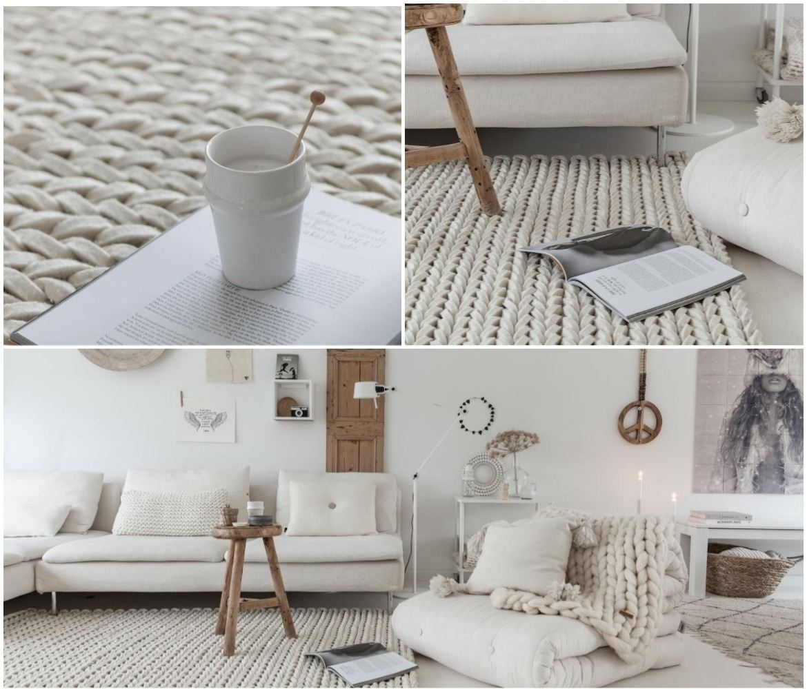 neutral-white-living-room-décor-with-braided-wool-rug